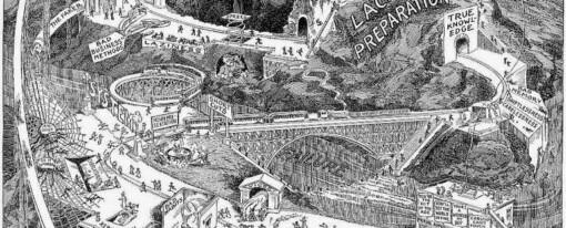 Information landscapes a century ago