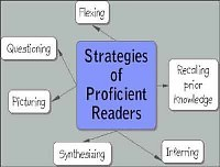 Bubble diagram for Stategies of proficient readers
